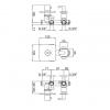 Смеситель термостатический скрытого монтажа для ванны LIVING
